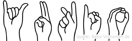 Yukio in Fingersprache für Gehörlose