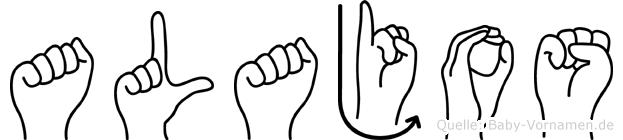 Alajos im Fingeralphabet der Deutschen Gebärdensprache