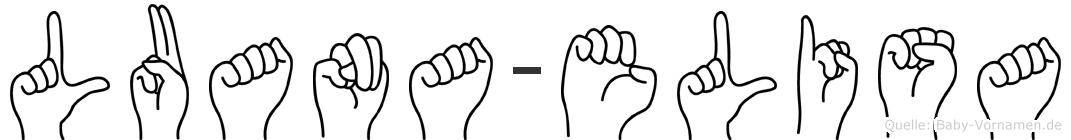 Luana-Elisa im Fingeralphabet der Deutschen Gebärdensprache