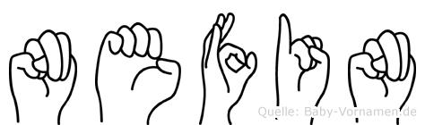 Nefin in Fingersprache für Gehörlose