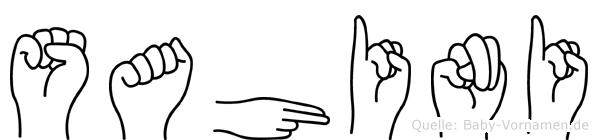 Sahini in Fingersprache für Gehörlose