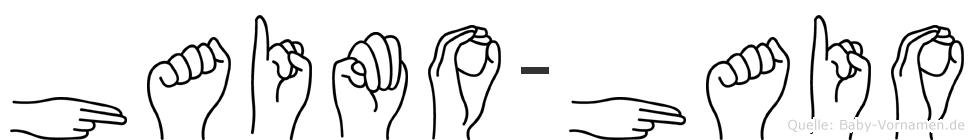 Haimo-Haio im Fingeralphabet der Deutschen Gebärdensprache