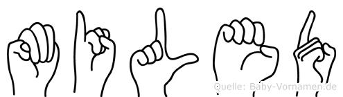 Miled im Fingeralphabet der Deutschen Gebärdensprache