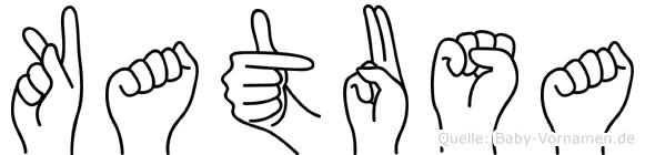 Katusa im Fingeralphabet der Deutschen Gebärdensprache