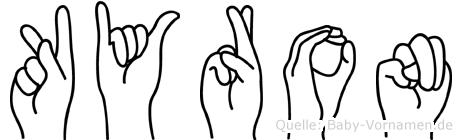 Kyron im Fingeralphabet der Deutschen Gebärdensprache