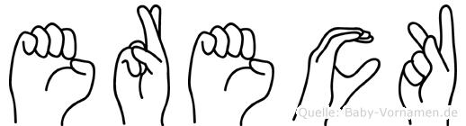 Ereck im Fingeralphabet der Deutschen Gebärdensprache