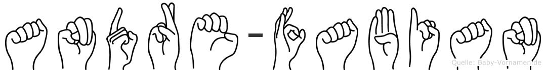 Andre-Fabian im Fingeralphabet der Deutschen Gebärdensprache