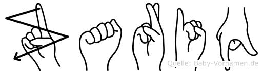Zariq im Fingeralphabet der Deutschen Gebärdensprache
