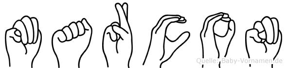 Marcon in Fingersprache für Gehörlose