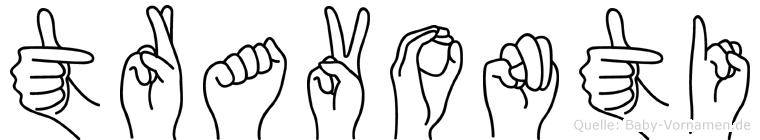Travonti in Fingersprache für Gehörlose