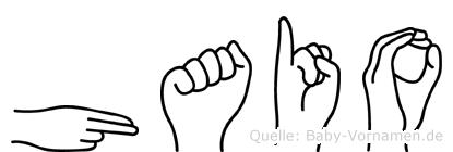 Haio im Fingeralphabet der Deutschen Gebärdensprache