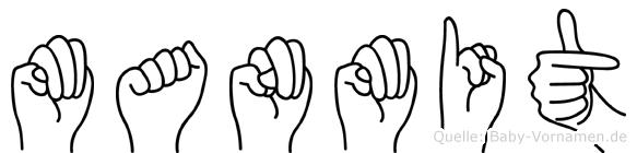 Manmit im Fingeralphabet der Deutschen Gebärdensprache