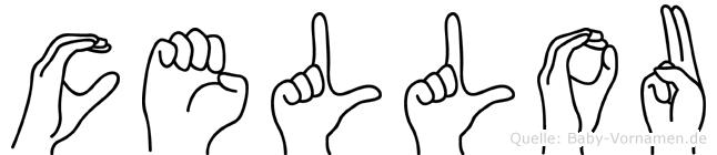 Cellou im Fingeralphabet der Deutschen Gebärdensprache