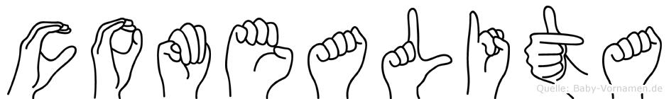 Comealita im Fingeralphabet der Deutschen Gebärdensprache