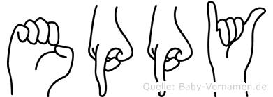 Eppy in Fingersprache für Gehörlose