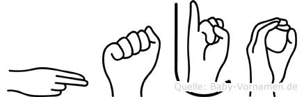 Hajo in Fingersprache für Gehörlose