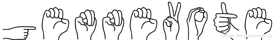 Gennevote im Fingeralphabet der Deutschen Gebärdensprache