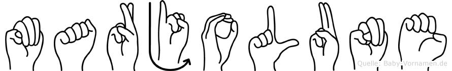 Marjolune im Fingeralphabet der Deutschen Gebärdensprache