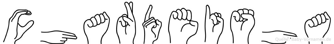 Chardeisha in Fingersprache für Gehörlose