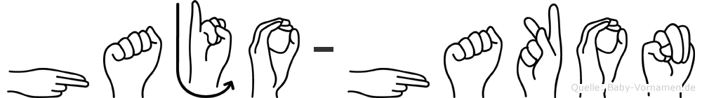 Hajo-Hakon im Fingeralphabet der Deutschen Gebärdensprache