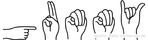 Gummy in Fingersprache für Gehörlose