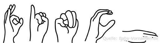 Finch in Fingersprache für Gehörlose