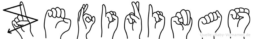 Zefirinas in Fingersprache für Gehörlose