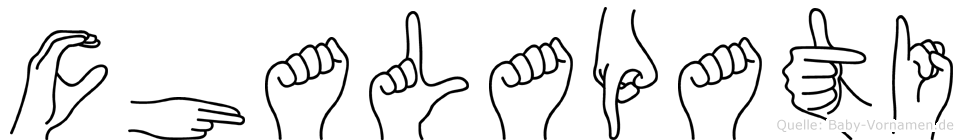 Chalapati im Fingeralphabet der Deutschen Gebärdensprache