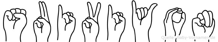Suiviyon in Fingersprache für Gehörlose