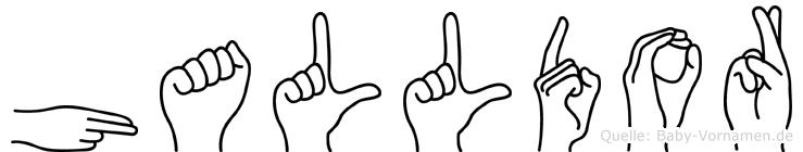 Halldor in Fingersprache für Gehörlose