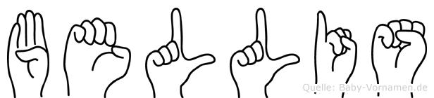 Bellis in Fingersprache für Gehörlose