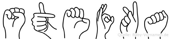 Stefka im Fingeralphabet der Deutschen Gebärdensprache