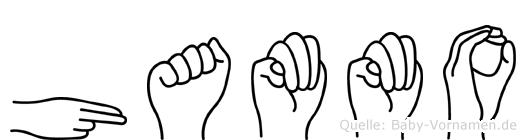 Hammo im Fingeralphabet der Deutschen Gebärdensprache