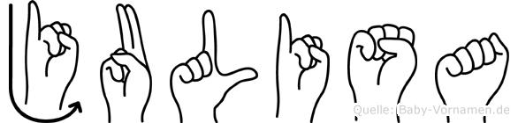 Julisa in Fingersprache für Gehörlose