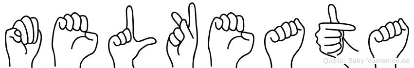 Melkeata im Fingeralphabet der Deutschen Gebärdensprache