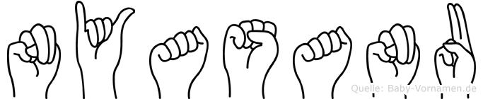 Nyasanu in Fingersprache für Gehörlose