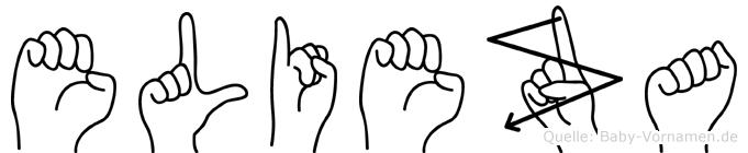 Elieza in Fingersprache für Gehörlose