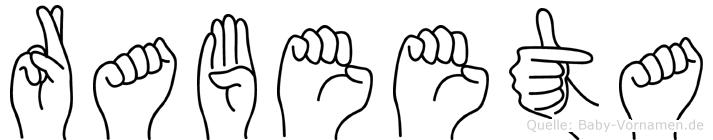 Rabeeta in Fingersprache für Gehörlose
