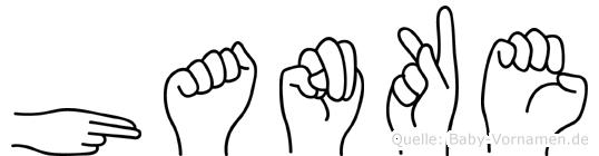 Hanke im Fingeralphabet der Deutschen Gebärdensprache