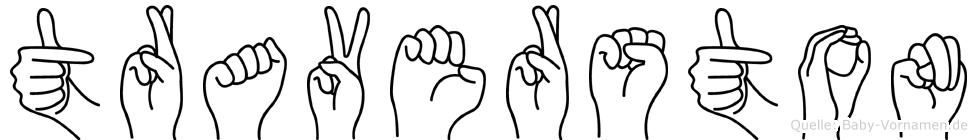 Traverston in Fingersprache für Gehörlose