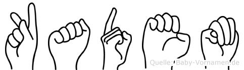 Kadem im Fingeralphabet der Deutschen Gebärdensprache