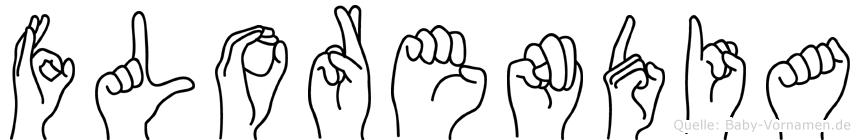 Florendia im Fingeralphabet der Deutschen Gebärdensprache