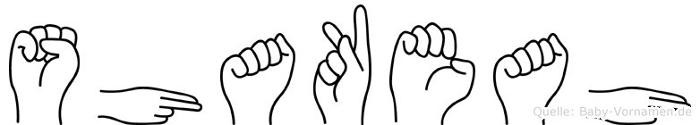 Shakeah in Fingersprache für Gehörlose