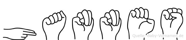 Hannes in Fingersprache für Gehörlose