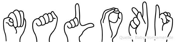 Maloki in Fingersprache für Gehörlose