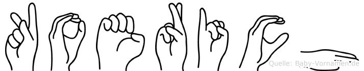 Koerich in Fingersprache für Gehörlose
