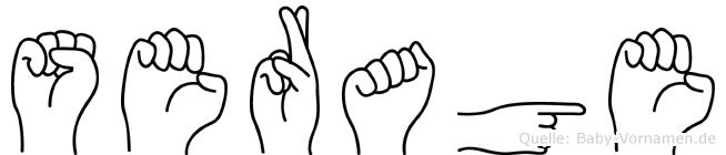 Serage im Fingeralphabet der Deutschen Gebärdensprache