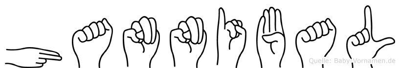 Hannibal im Fingeralphabet der Deutschen Gebärdensprache