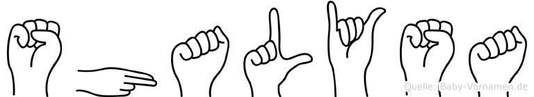 Shalysa in Fingersprache für Gehörlose