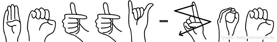 Betty-Zoe im Fingeralphabet der Deutschen Gebärdensprache